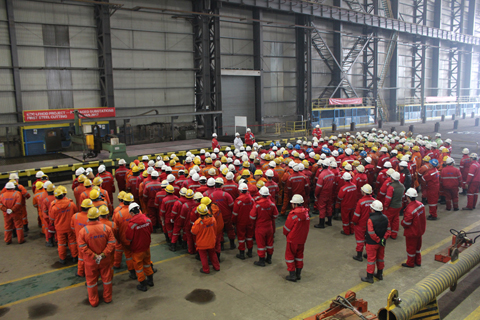 Commencement Ceremony of KOC LFHOD Electrical Room Project Comes to a Successful End