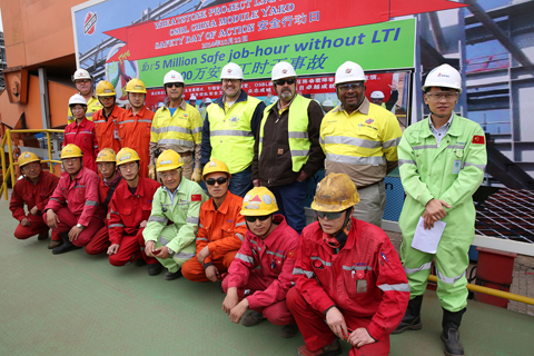 Wheatstone OSBL 5 million job hour without LTI campaign held on site Bomesc